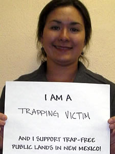 Trap Victim Supports Trap-Free Public Lands in New Mexico